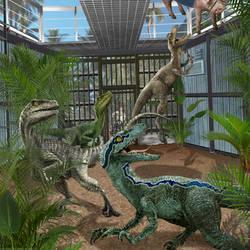 Velociraptor of Jurassic World by urbnvampslayer