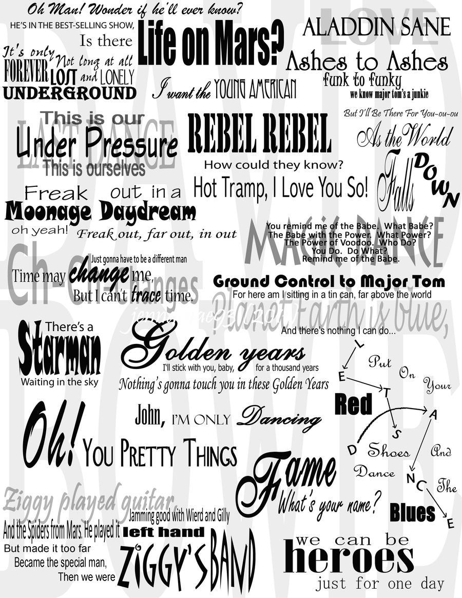 david bowie lyrics collage by jennamae on  david bowie lyrics collage by jennamae93 david bowie lyrics collage by jennamae93