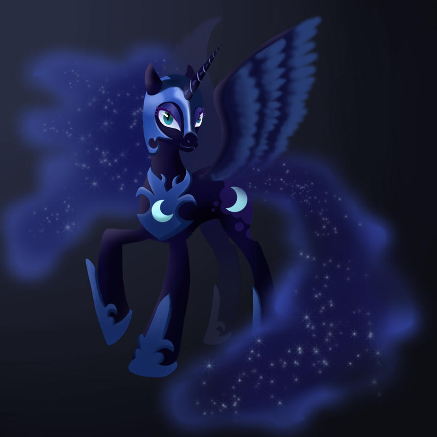 The Nightmare Moon in the Dark by PeichenPhilip