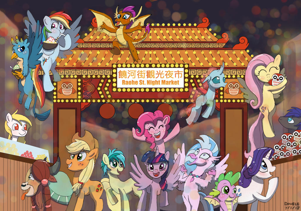 Mane 6 and Student 6 Visiting NightMarket in TW!