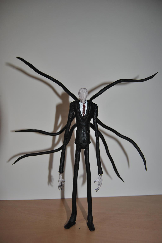 Slender man action figure by debreks on deviantart