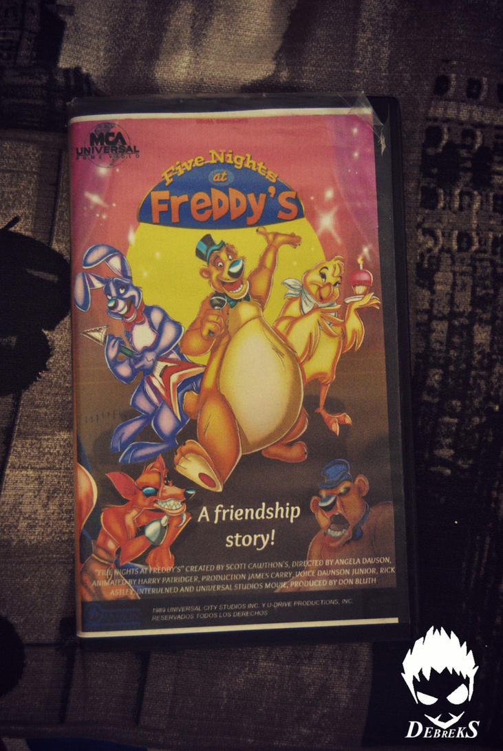 5 nights at freddy s vhs movie cassette front by debreks on deviantart