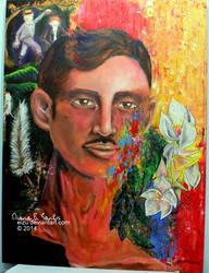 Mindful Escapade. A Jose Rizal Painting. by eizu