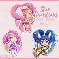 Ahri Lux Poppy Chibis fr League of Legends Fanart