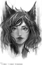 Ahri Portrait Fanart - From League of Legends by eizu