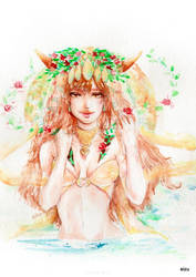 VIRGO - Original Horoscope Watercolor Series by eizu