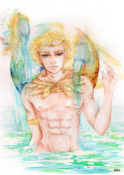 AQUARIUS - Original Horoscope Watercolor Series by eizu