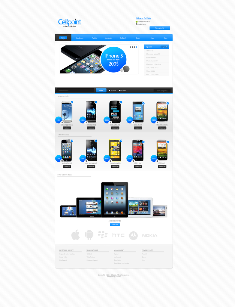 Cellpoint online mobile store by tdartist on deviantart for Store mobili online