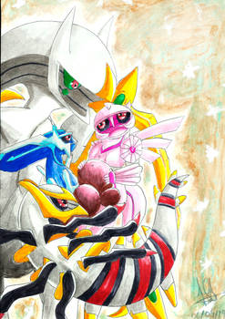 Arceus and his babys