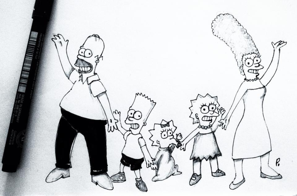 Disegni Dei Cartoni Animati I Simpson By Cartoniricordioggi On