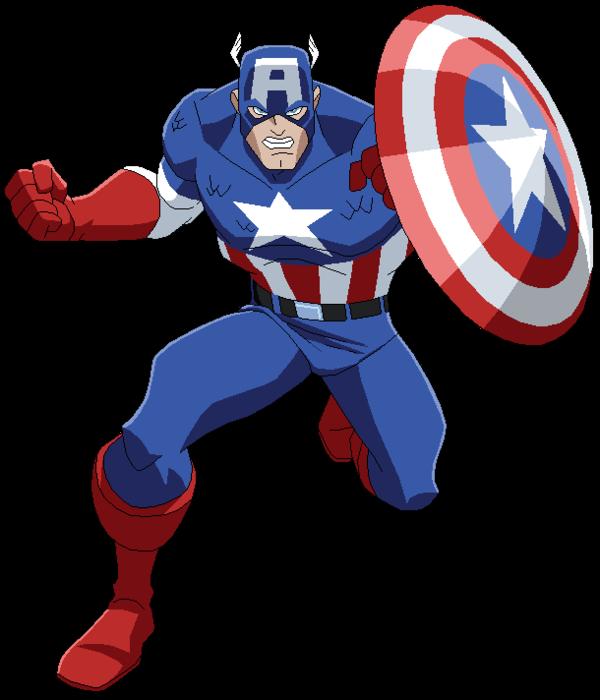Personaggi dei cartoni animati capitan america by