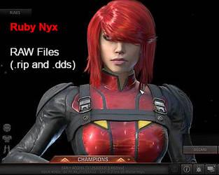 Quake Champions - Ruby Nyx 3D Model(RAW RIP Files) by XCurtainX