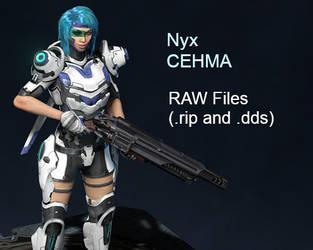 Quake Champions - CEHMA Nyx 3D Model (RAW Files) by XCurtainX