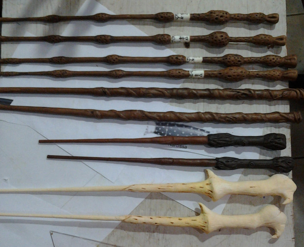 Harry potter wands by dragaodepapel on deviantart for Harry potter wand owners