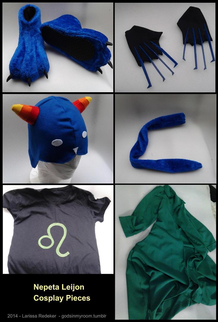 nepeta leijon cosplay pieces by dragaodepapel on deviantart