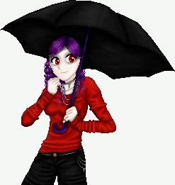 Lydia with an umbrella by Elessya
