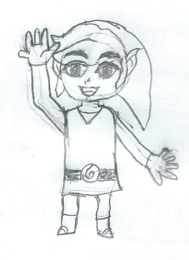 Toon Link says hi by JacktheCat779