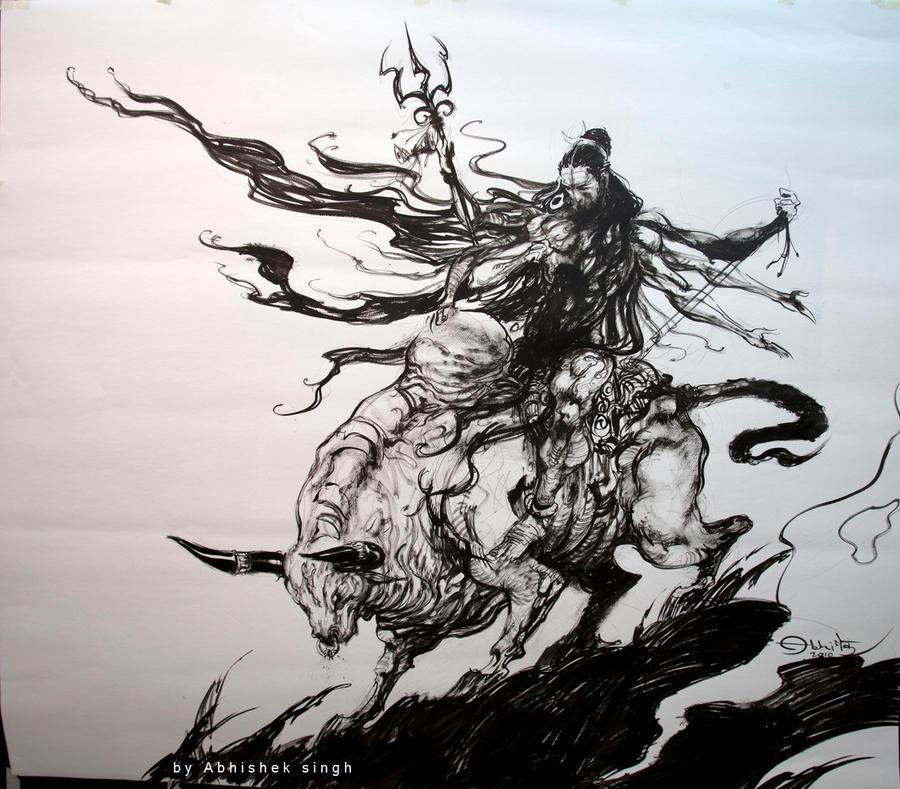 Line Art Painting Hd : Maheshwara by tejomaya on deviantart