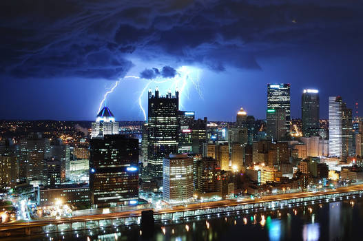 Lightning - Downtown Pittsburgh - 031512