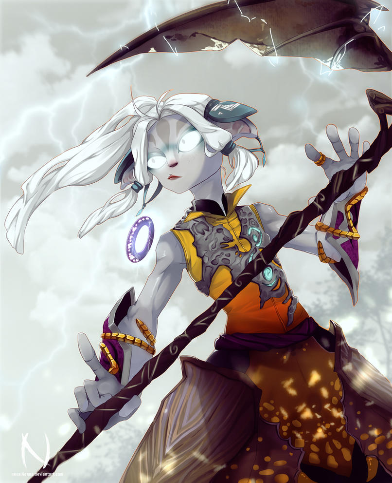 Guild Wars 2 Anime Characters : Lightning en masse commission by nesallienna on deviantart