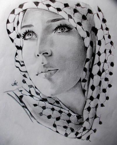 Woman In Hijab. by annakoutsidou