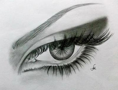 Mysterious Glance by annakoutsidou