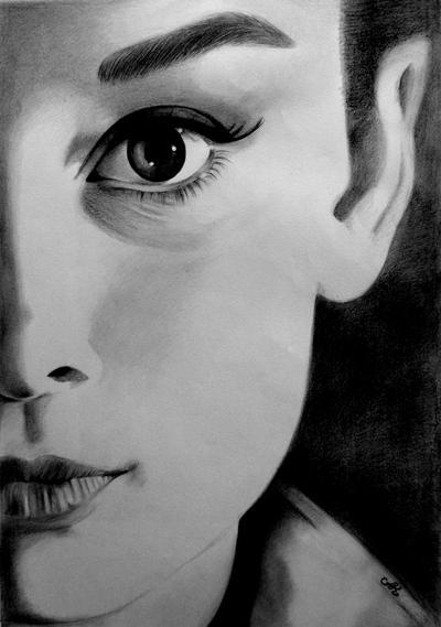 Audrey Hepburn by annakoutsidou