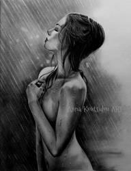 A Flower In The Rain by annakoutsidou