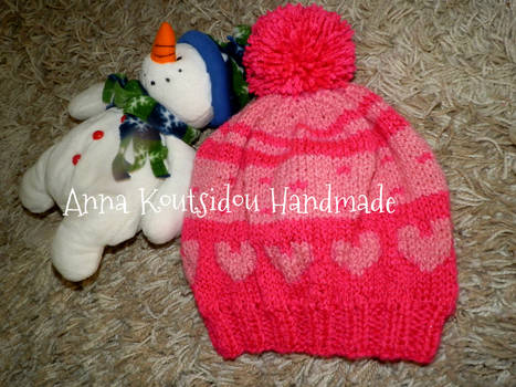 Knitting Hearts Hat