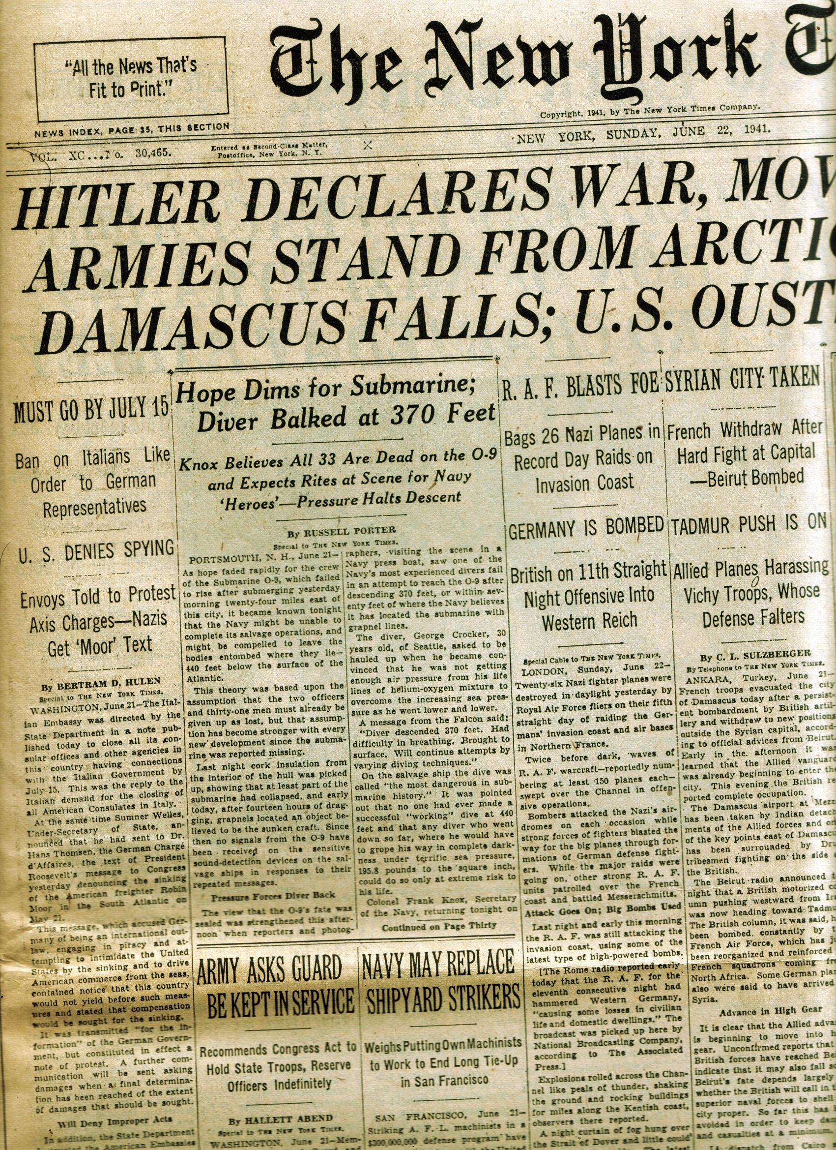 headline june 1941 by lebstock