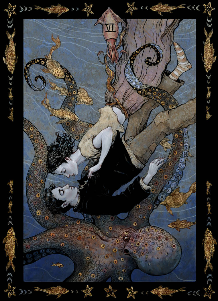 tarot, the lovers by bluefooted