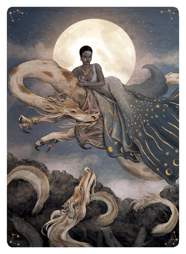 Tarot - The Moon by bluefooted