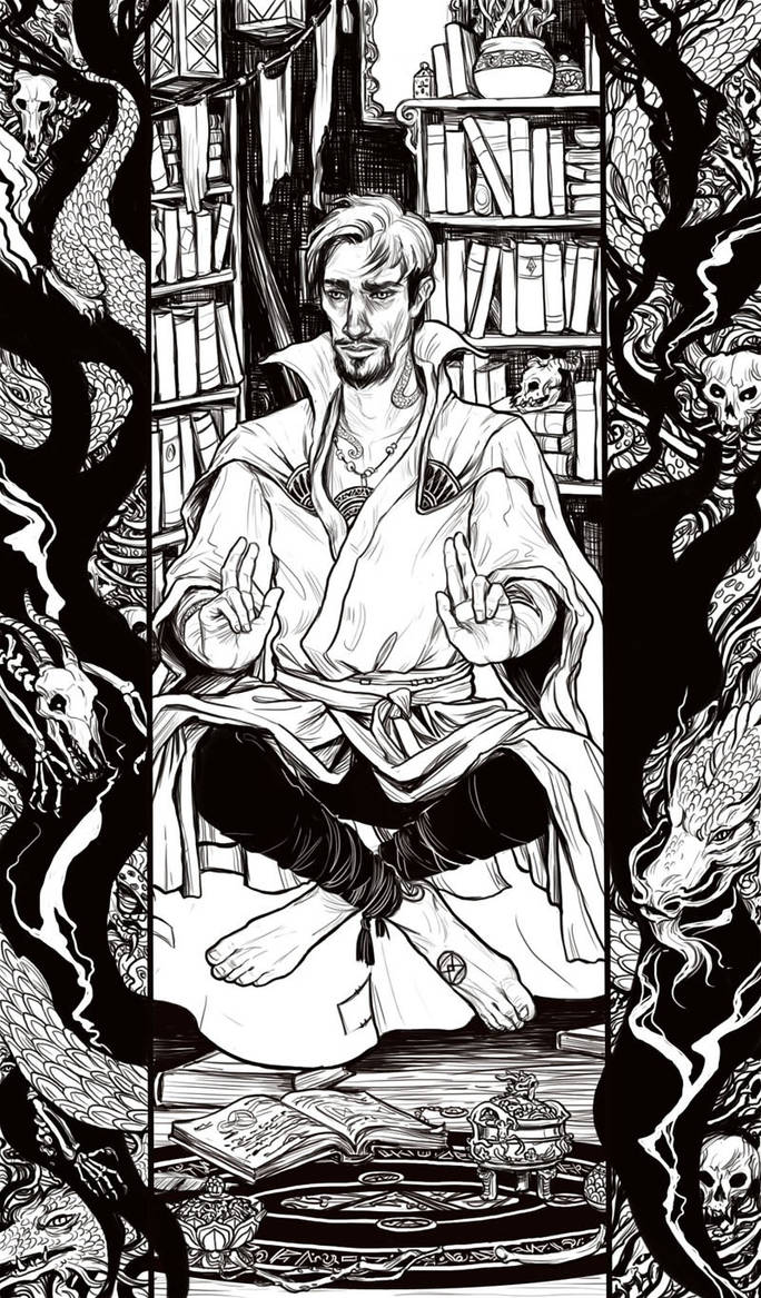 Doctor Strange (wip) by bluefooted