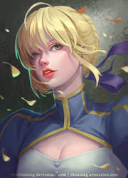 Saber | FATE (Grand Order) Fan-art by shoshoxiang