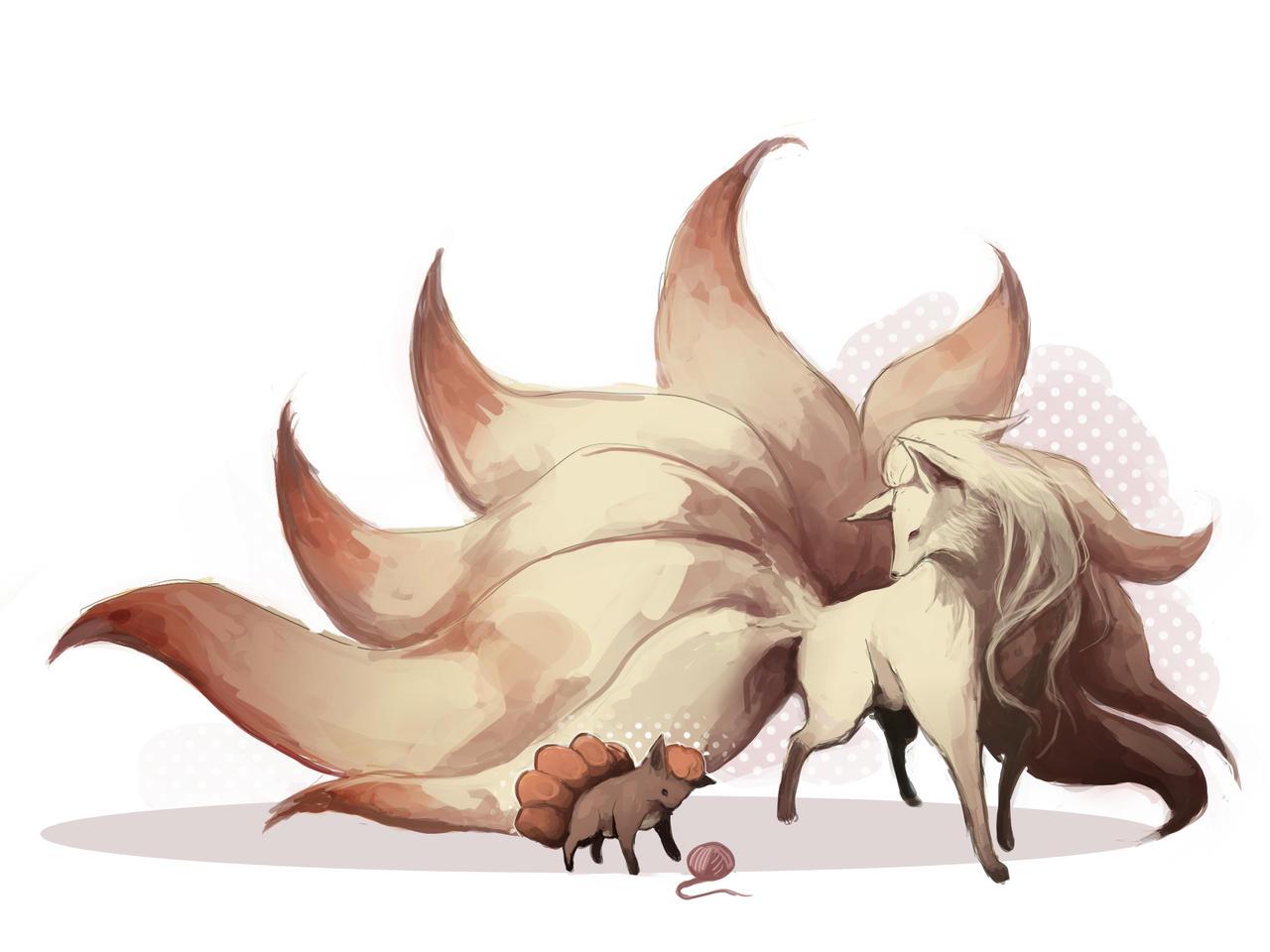 Vulpix - Ninetales by MrRedButcher