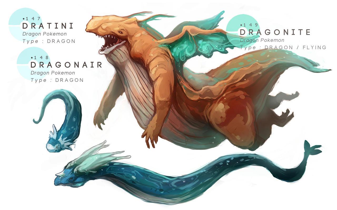 Dratini Dragonair Dragonite By MrRedButcher On DeviantArt