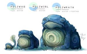 Poliwag - Poliwhirl - Poliwrath by MrRedButcher