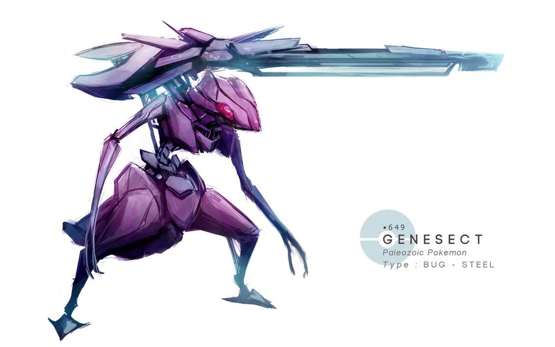 Genesect by MrRedButcher on DeviantArt