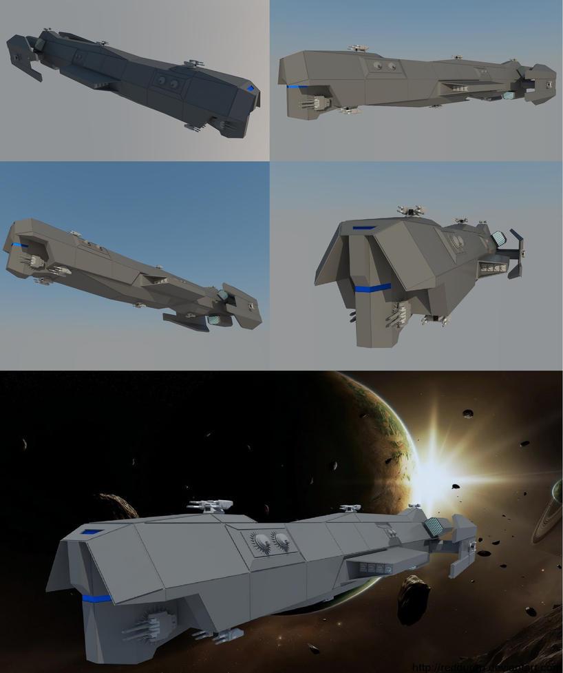 3D Model Spaceship Concept design by RedDuran on DeviantArt