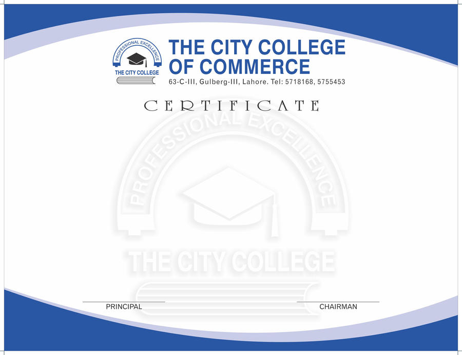 The City College Certificate by zeeshan83 on DeviantArt