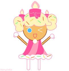Birthday Cake Cookie (b-day art!)