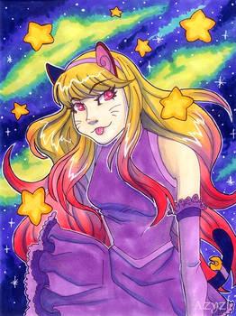 Rainbow Space Kitty