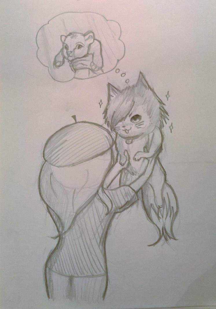 i wonder what my cat thinks by DarkUmbreon12