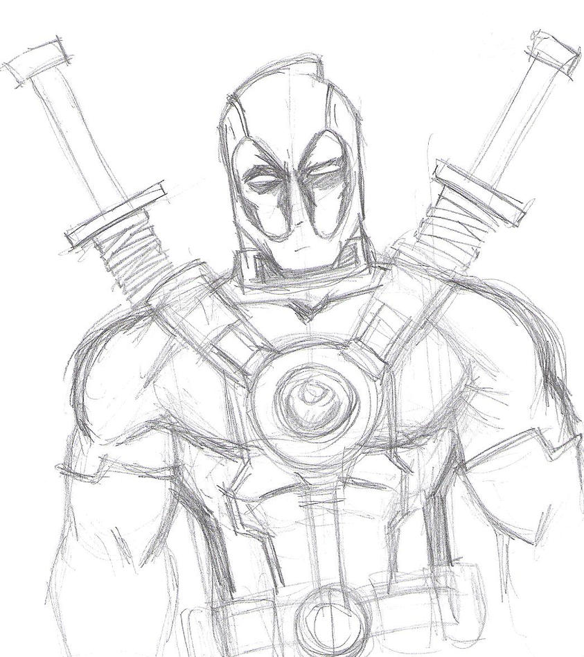 Deadpool Sketch By Wadepool On DeviantArt