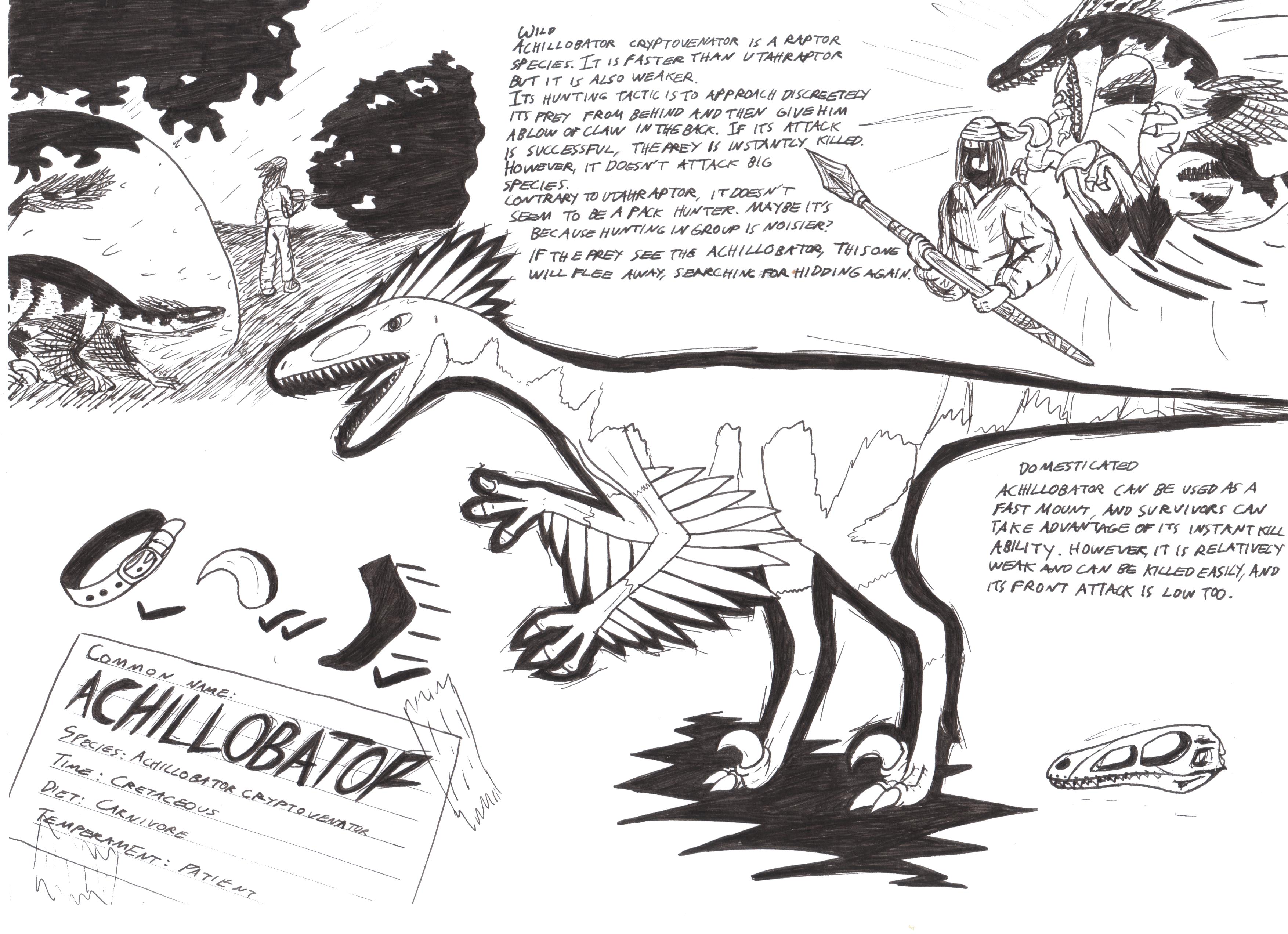 Achillobator ark dino-dossier by Maxblok59 on DeviantArt