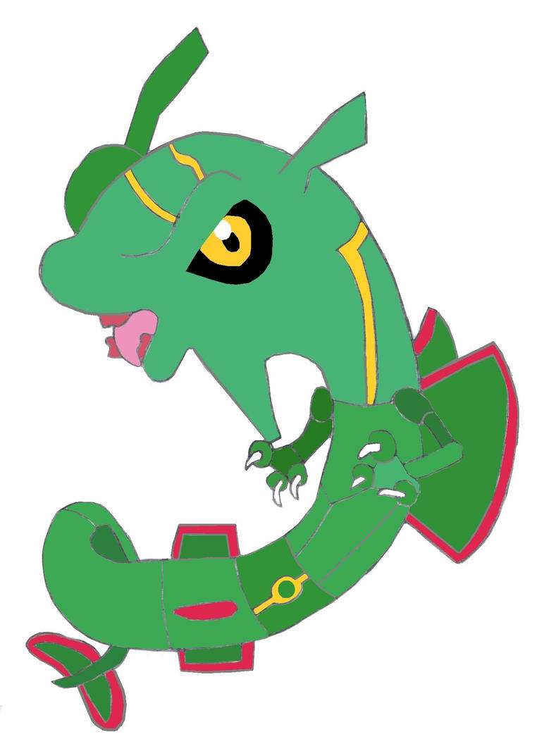 Chibi Rayquaza by Mikeylily12 on deviantART
