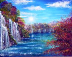 Blue Lagoon by AnnMarieBone