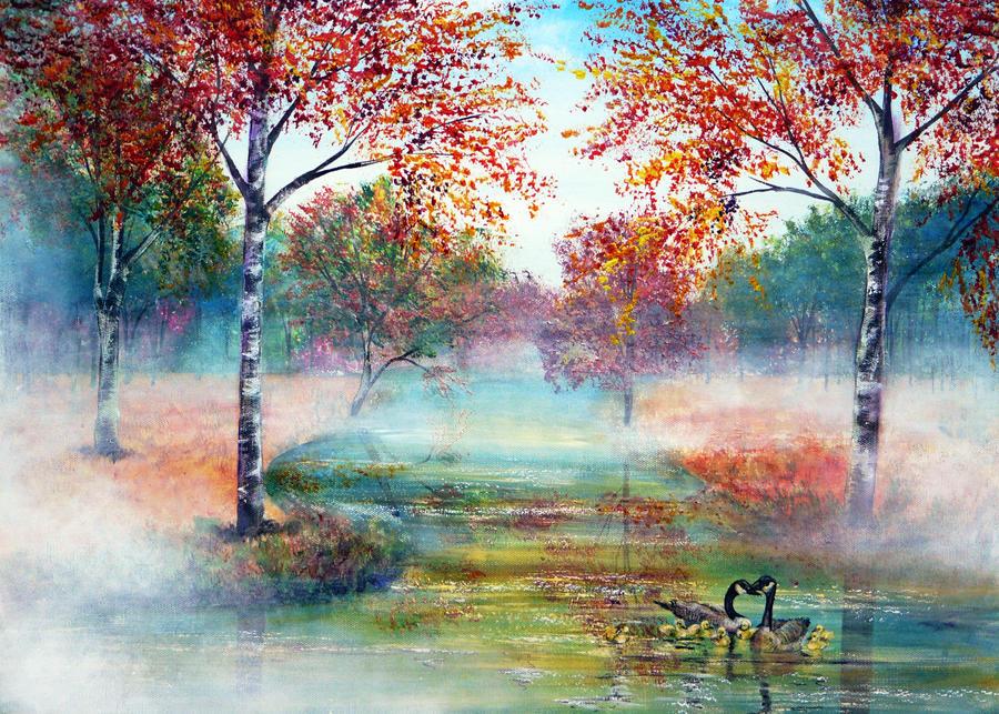 Misty Morning by AnnMarieBone