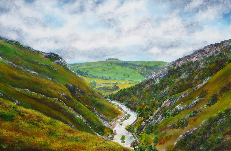 Painting of Dovedale Valley