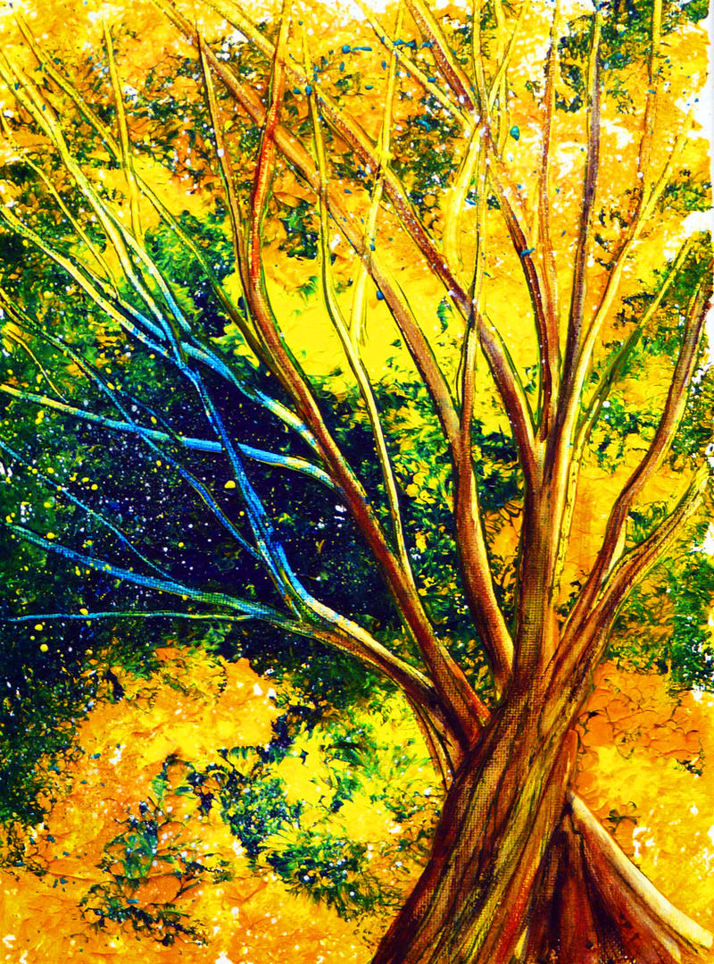 Acrylic tree tutorial by annmariebone on deviantart for What paint for canvas